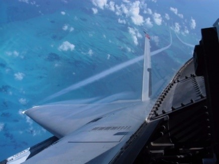 F-15 contrails